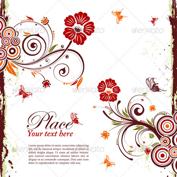 Graphic River Floral Frame Vectors -  Decorative  Borders 1555344