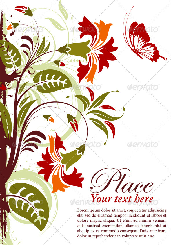 Graphic River Floral Frame Vectors -  Decorative  Borders 1555391