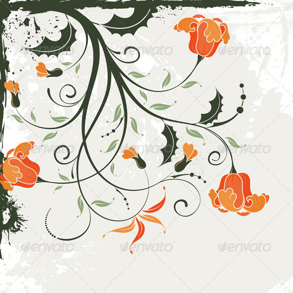 Graphic River Floral Frame Vectors -  Decorative  Borders 1555404