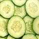 Fresh Cucumber Slices Rotating