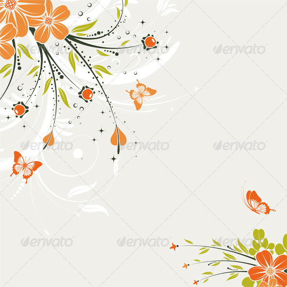 Graphic River Floral Background Vectors -  Decorative  Borders 1555418