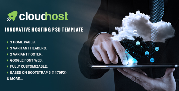 Cloud Host - Innovative Hosting PSD Template