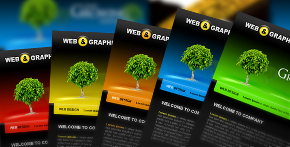 Web & Graphic Portfolio Template - Web 2.0