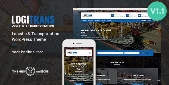 Download Logistic WordPress Theme - LogiTrans nulled download