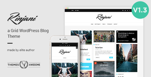 Download A Responsive Grid Blog Theme - Rinjani nulled download