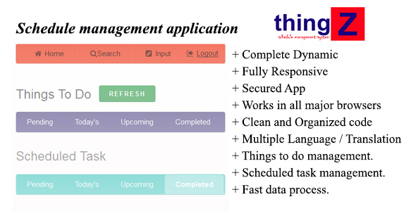 Thingz-Schedule Management Application