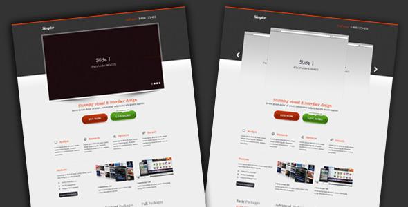 simpler – Landing page
