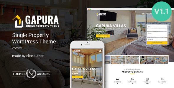 4 - Single Property WordPress Theme - Gapura