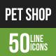 Pet Shop Line Green & Black Icons