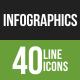 Infographics Line Green & Black Icons