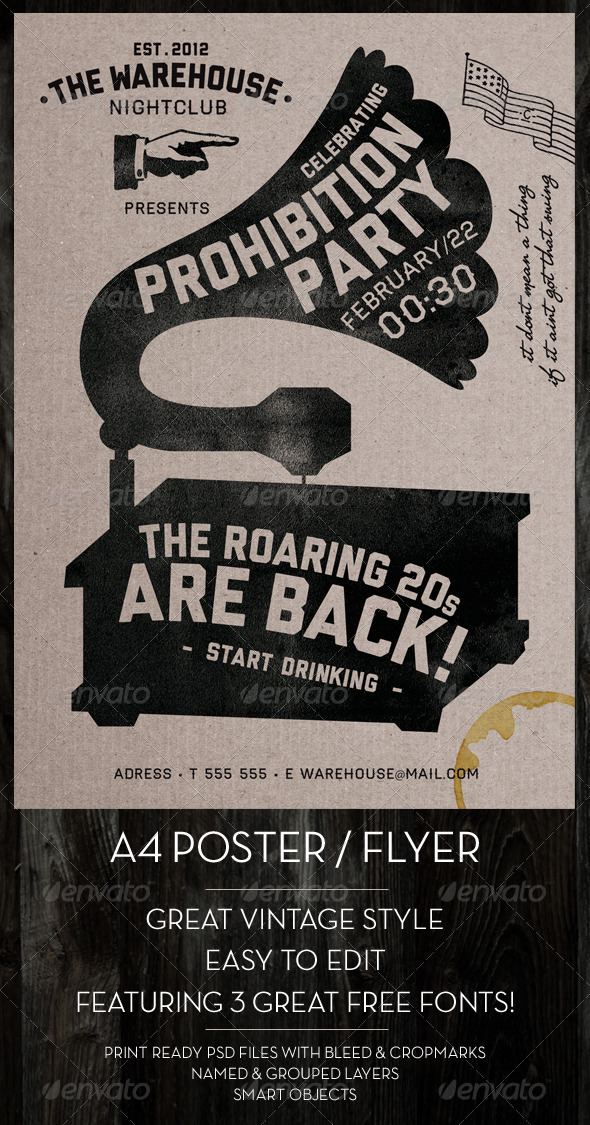 vintage poster font