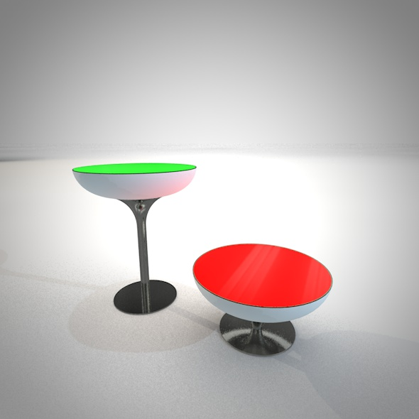 LED tables - 3DOcean Item for Sale