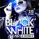 Black and White Affair Flyer Template