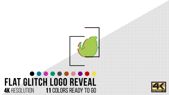 Download Flat Glitch Logo Reveal nulled download