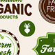 Organic food labels - GraphicRiver Item for Sale