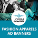Fashion Apparels Ad Banners