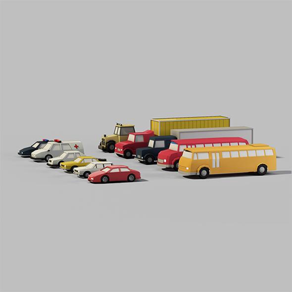 3DOcean Lowpoly Vehicles 15575119