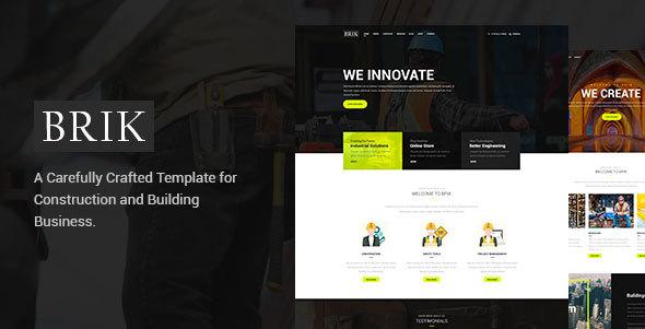 Brik - Construction & Building PSD Template
