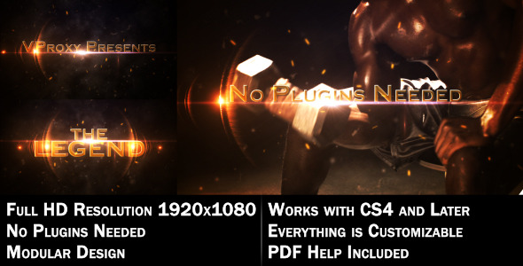 After Effects Project - VideoHive The Legend Cinematic 1557572