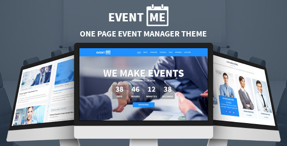 preview.  large preview - EventMe - One Page Conference & Event Drupal Theme