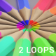 Vibrant Color Pencil Radial Loops