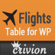 WP Airport Flights Table