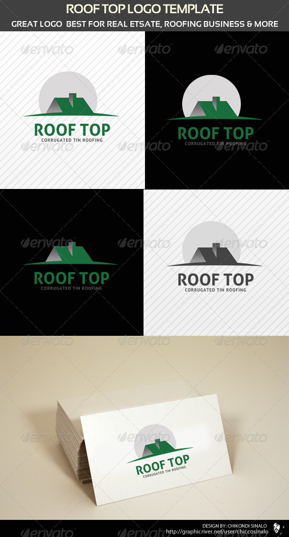 Roofing Logo Ideas Roof Top Logo Template