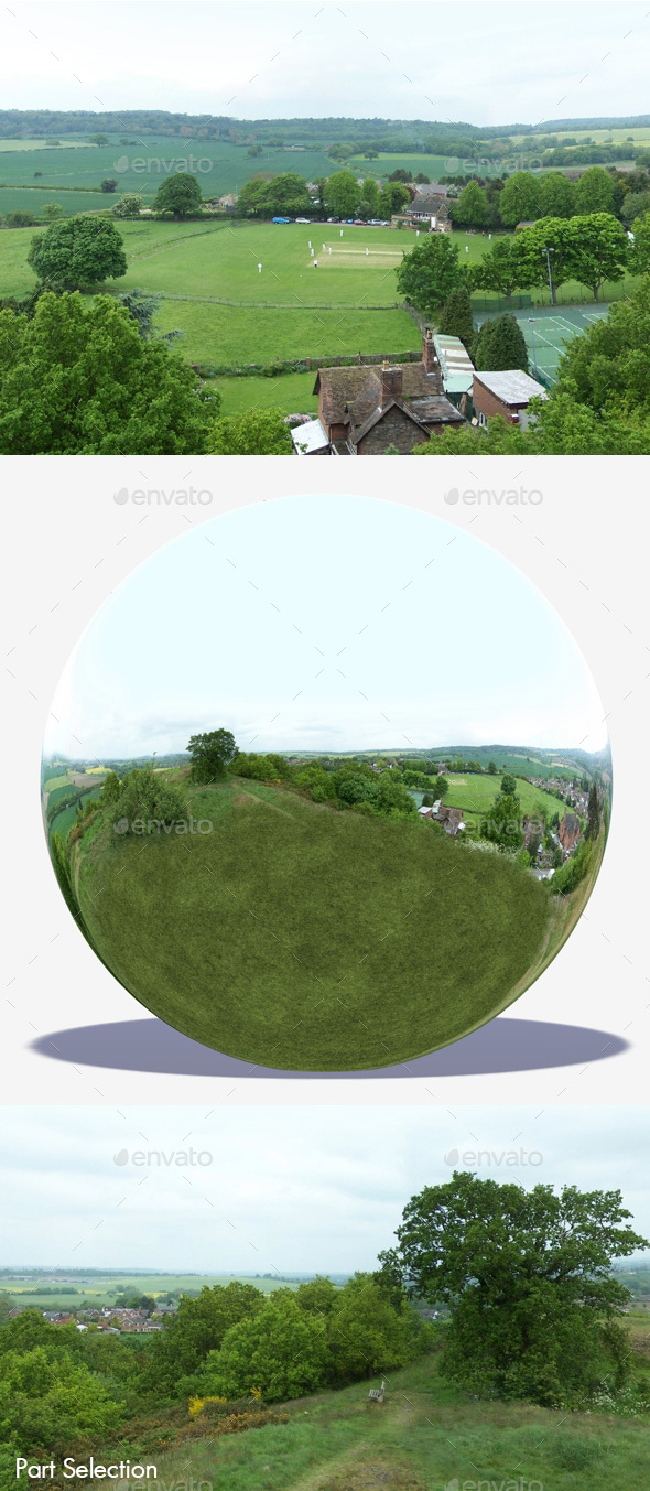 Countryside Hilltop HDRI - 3DOcean Item for Sale