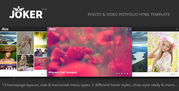 15. Joker - Photo & Video Portfolio HTML Template