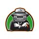 Mobster Car Grille Face Half Circle Retro