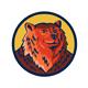 Russian Bear Head Circle Retro