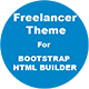 Freelancer Landing Page Theme For Bootstrap HTML Builder