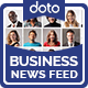 Business News Feed Ads - 5 Designs