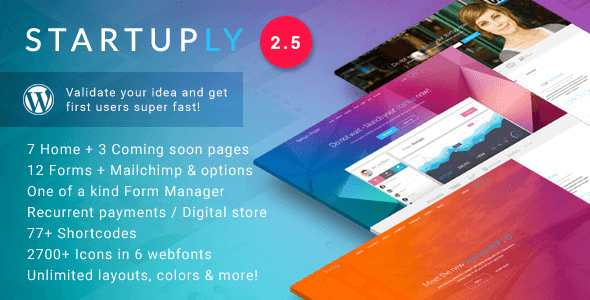 Download Startuply —  Multi-Purpose Startup Theme nulled download