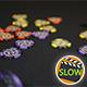 Poker Chips Falling