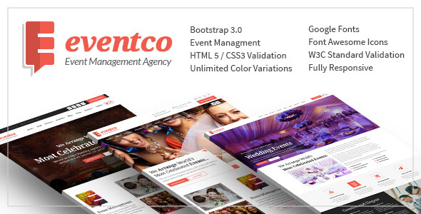 Eventco - Event Management Agency Responsive Template