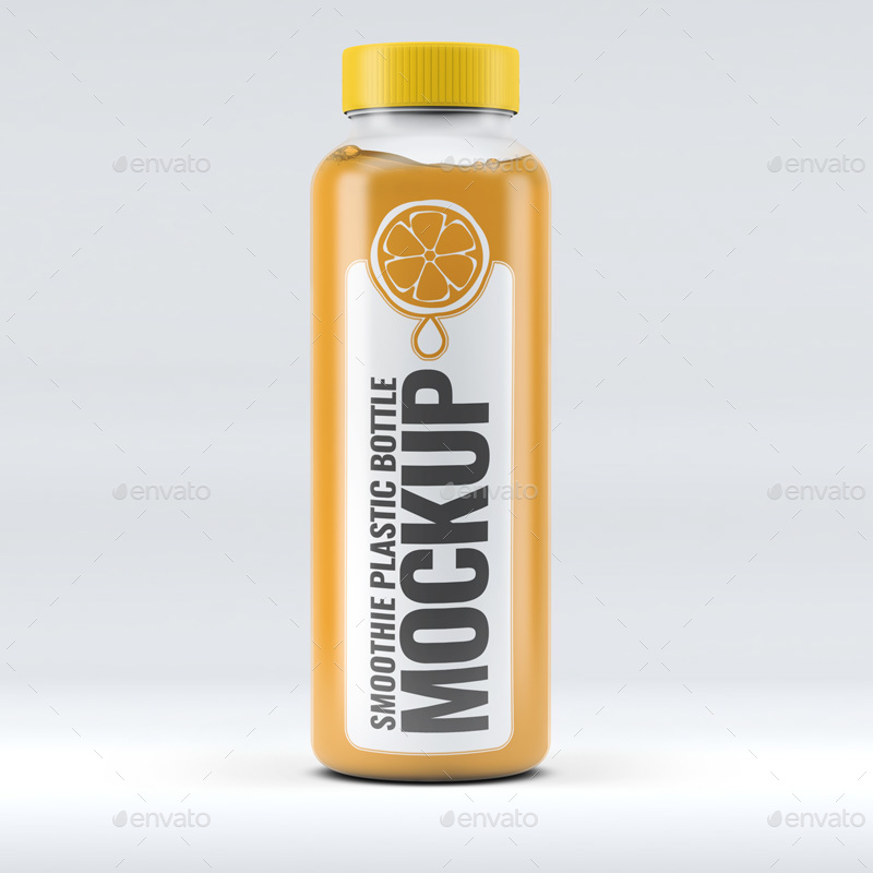 Smoothie Plastic Bottle Mock-Up By L5Design