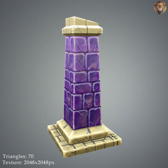 Low Poly Stylize Pillar - 3DOcean Item for Sale