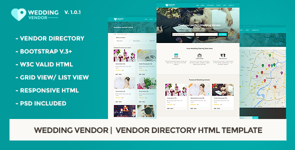 3. Vendor Directory HTML Template | Wedding Vendor
