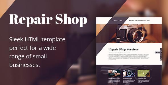 Repair Shop - HTML Repair Shop Template