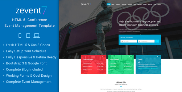 Zevent – Conference & Event Responsive Html Template (Events ...