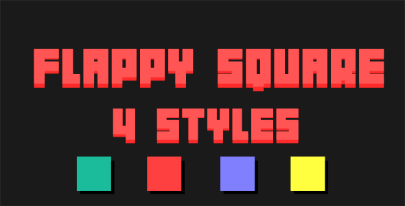 Flappy Square - Html5 Mobile Game - android & ios HD