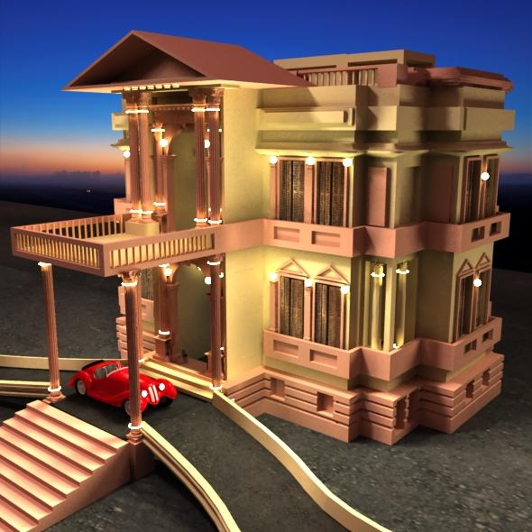 3DOcean Historical Villa 15591130