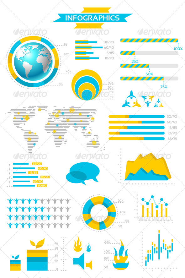 Infographic Collection with Labels and Graphic