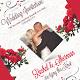 Red & White Floral Wedding Invitation