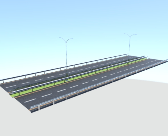 3DOcean Low Poly Asphalt Road 15594914
