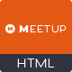 Meetup - Conference Event HTML Template