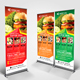 Fast Food Roll Up Banner V35