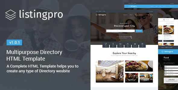 ListingPro - HTML Multipurpose Directory Template