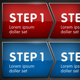 3 Step Process in 4 Colors - GraphicRiver Item for Sale